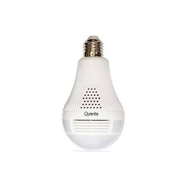 Câmera Espiã Quanta QTLCW360I Tipo Lâmpada com Wi-Fi/360º de Visão - Branco