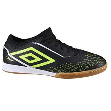 Imagem de Chuteira Futsal Umbro Velox In Masculina - Preto+verde - 38