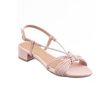 Sandália com Saltinho Baixo Quadrado Via Birigui Candy  feminino