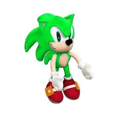 Imagem de Pelúcia Boneco Fofinho Coleção Tipo Turma Do Sonic Verde