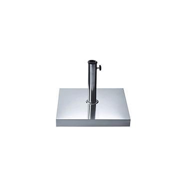Base p/ Guarda-Sol Quadrada Inox 40Kg - Bel Fix