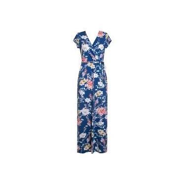 Vestido Feminino Longo Em Malha Viscose Estampa Floral Seiki 680781