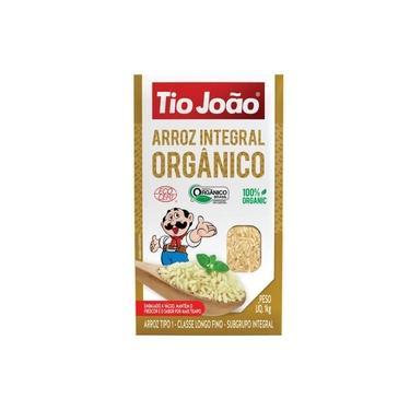 Arroz Integral 100% Orgânico Tio João 1Kg - Brasil