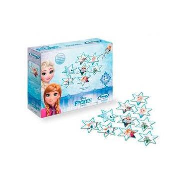 Imagem de Jogo Da Memória Frozen Disney Estrelas Madeira 24 Peças