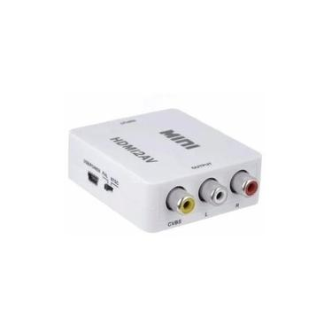 Mini Adaptador Conversor De Hdmi Para Video Composto Rca 2av
