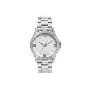 2bd9e67a6c1 Relógio Condor Masculino Casual Metal Prata - CO2115KSR 3K
