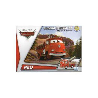 Imagem de Disney Quebra Cabeça 3d Movido A Fricção Lightning Mcqueen + Disney Quebra Cabeça 3d Movido A Fricção Red