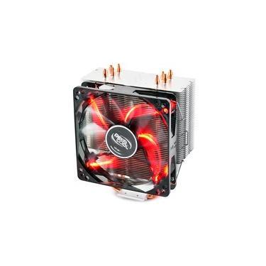 Cooler para Processador DeepCool Intel/AMD GAMMAXX 400 Silente 120mm PWM Fan With Red Led Light - DP-MCH4-GMX400RD