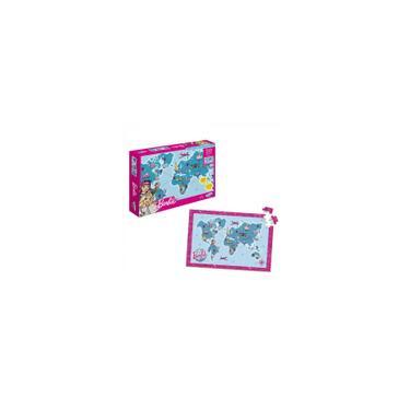 Imagem de Quebra-Cabeça Mapa Mundi Travel Barbie