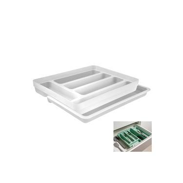 Organizador De Gaveta Divisor Porta Talheres Extensível Cozinha Logic - OL 650 Ou