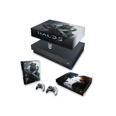 Capa Anti Poeira e Skin para Xbox One X - Halo 5: Guardians #B