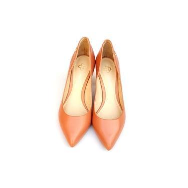 Sapato Scarpin Feminino Capodarte Bico Fino Salto Médio Rosê 4006789