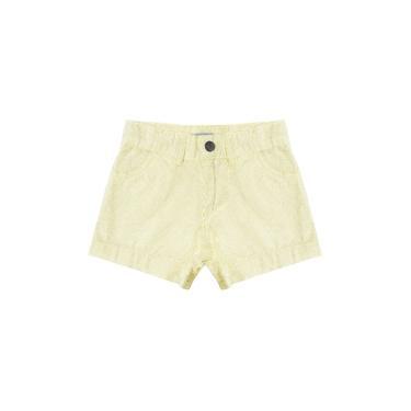 Shorts Infantil Feminino Rovitex Kids Amarelo