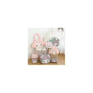 Presentes Kawaii My Melody Bag Plush Bag Brinquedos Kuromi Caso Cosmetic bolsa estilo japonês Bolsa de Ombro Adorável aniversário para meninas