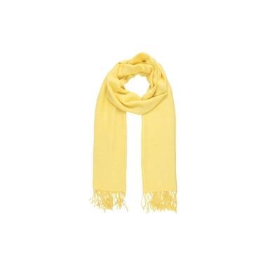 Echarpe Lisa Amarelo 150g com Franja Viscose 180x70 cm