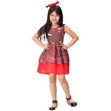 Imagem de Fantasia de Bombom Infantil Vestido Com Tiara 2 a 10 anos (GG 9-10)