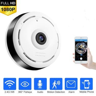 Hd 360 graus panorâmica grande angular mini câmera de cctv inteligente ipc sem fio fisheye câmera ip