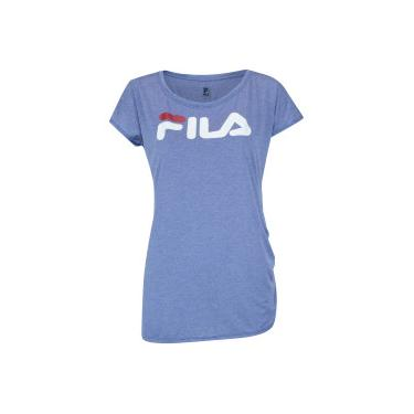 Camiseta Fila Drapped - Feminina - AZUL Fila 496ab5b38d35c
