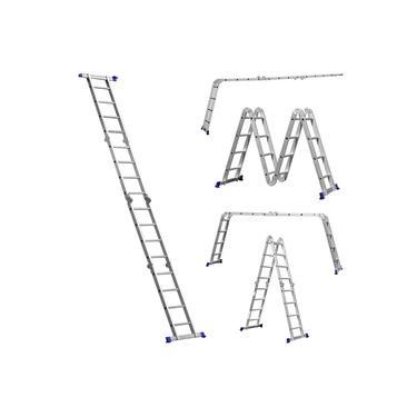 Escada Dobravel Multifuncional Aluminio 4x4 16 Degraus com 8 Posicoes Mor
