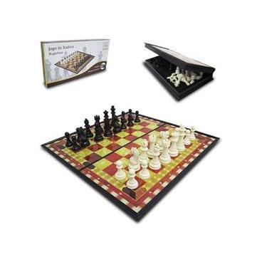 Jogo De Xadrez Tabuleiro Dobrável Magnético Numerado 19,5x19,5x3cm Casita