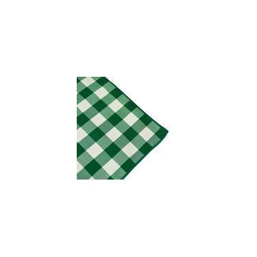 Imagem de Toalha De Mesa Quadrada Em Tecido Xadrez Verde E Branco 1,40m