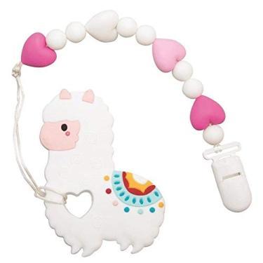 Imagem de Mordedor de Silicone Lhama com Mordedor, Girotondo Baby, Branco, Tamanho único