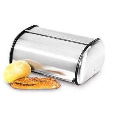 Imagem de Porta Pão Armazenador Em Aço Inox Kehome