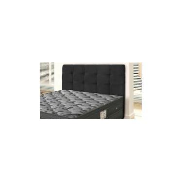 Cabeceira Para Cama Box Queen Clean 1600mm - Suede Negro - Simbal Celta moveis