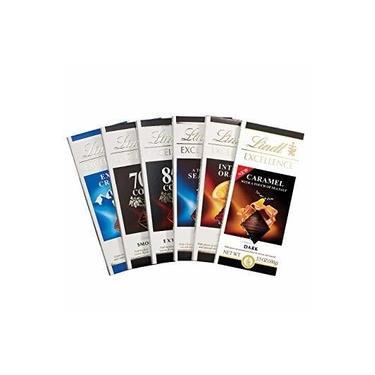 Chocolate Suíço Lindt Excellence - Kit 6 Barras 100g Sortidas Questão de Gosto