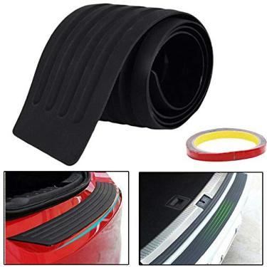 Yeaphy Protetor de para-choque traseiro de borracha universal resistente a arranhões protetor de soleira da porta do porta-malas acessórios exteriores para SUV/carros