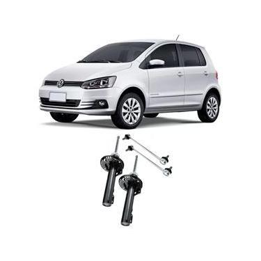 Amortecedor + Bieleta Volkswagen Fox Dianteira 2003 Até 2019 O Par