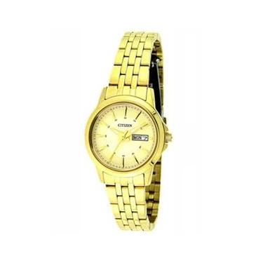 0e2d060e2ce Relógio Feminino Analógico Citizen TZ28422G - Dourado
