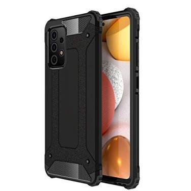 """Grandcaser Capa para Galaxy A52 5G Heavy Duty Hybrid Case Dupla Camada À Prova Choque Anti-arranhões Resistente Capa Proteção para Samsung Galaxy A52 5G 6.5"""" -Preto"""