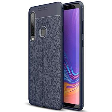 SCIMIN Capa para Samsung Galaxy A9 (2018), capa de couro sintético para Galaxy A9 (2018), capa macia de TPU antiderrapante para Samsung Galaxy A9 de 6,3 polegadas (2018)