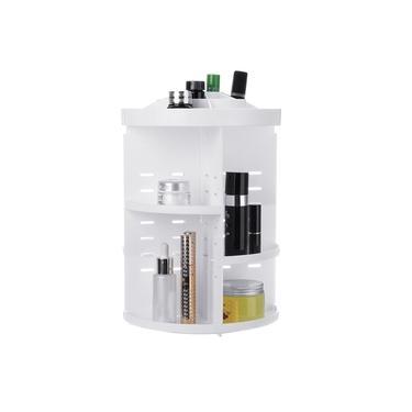 Suporte para estojo de armazenamento de joias organizador de maquiagem giratória 360 ° para cosméticos