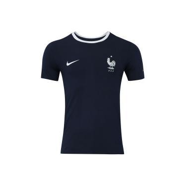 84dafcd5bc Camiseta França 2018 Crest Nike - Masculina - AZUL ESC BRANCO Nike