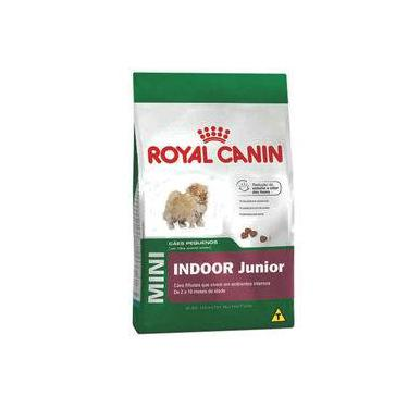 Ração Royal Canin Mini Indoor Junior para cães filhotes de pequeno porte ambientes internos - 2,5 kg