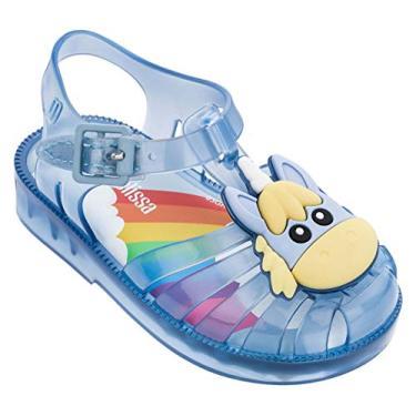 Melissa Mini Possession sandálias de unicórnio, azul, tamanho infantil 6