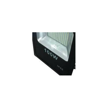 Refletor Led 100W Holofote Branco Frio Bivolt Prova D' Água