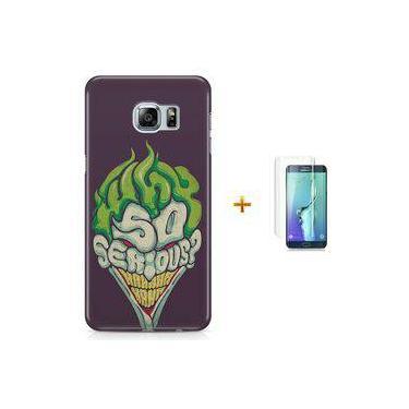 Kit Capa Case TPU Galaxy S6 Edge Coringa Joker Why so Serious? + Pel Vidro (BD30)