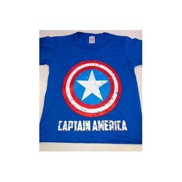 Camisa Capitão América Tamanho 4 Anos