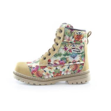 Bota Vegano Shoes Naturale Floral/Mostarda - Floral  unissex
