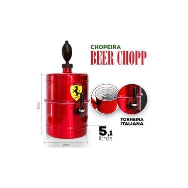Imagem de Chopeira Ferrari Vermelha Personalizada - Portátil 5,1 L