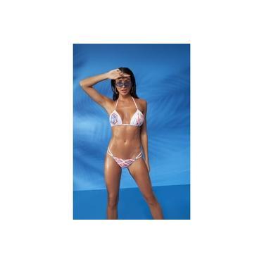 Biquini Labellamafia Beachwear Branco Estampado Original