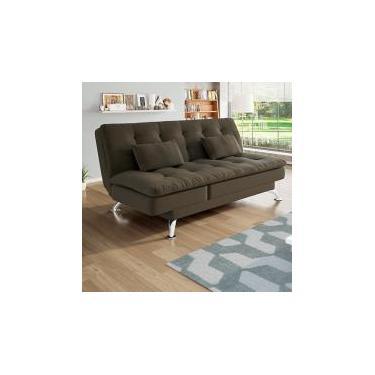 dcfb26337 Sofá-cama Suede Reclinável Linoforte - Jade A2