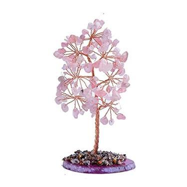 Árvore de Cristal, Árvore de Cristal, Quartzo Rosa Natural, Árvore de Cristal, Bonsai, Árvore do Dinheiro para Riqueza e Pedra da Sorte, Árvore de Cura de Árvore de Natal (Cor: Citrino)/Código do Produto: WW-33