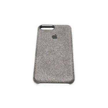 Capa Case Capinha Silicone Aveludado Jeans Iphone 8 Plus Cinza Escuro