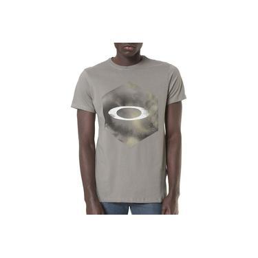 Camiseta Oakley Masculina Mod Smudge Hex Tee Cinza