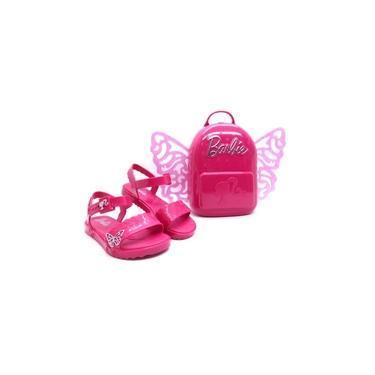 Sandália Infantil Menina Kids Barbie Butterfly Grendene 22370 + Brinde