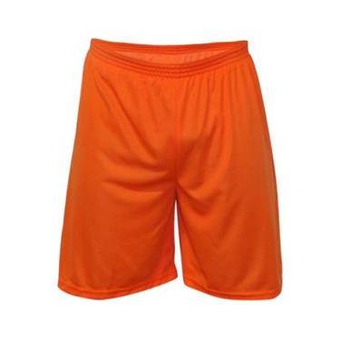 Calção Futebol Kanga Sport - Calção Laranja - nº10